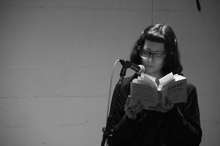 Maranda reads from their book, Telegram