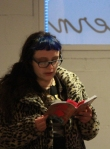 Neelybat reads from her book, Mend My Dress.