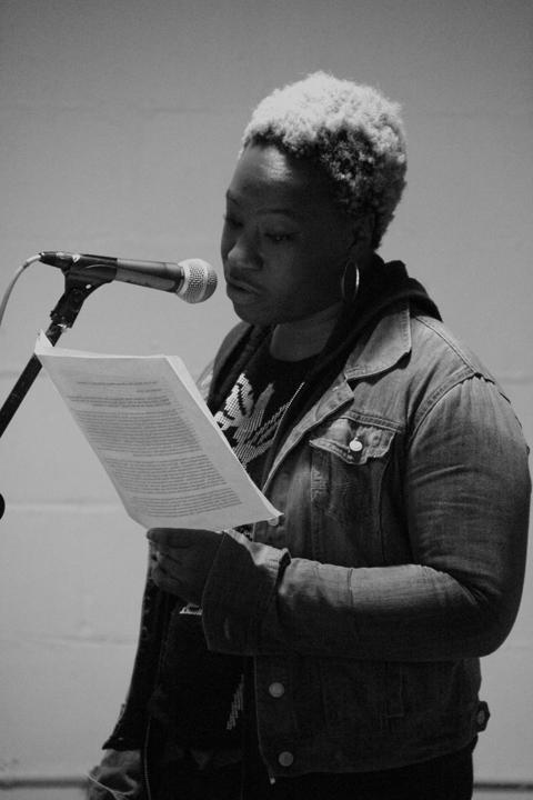 Osa reads from her blog (http://shotgunseamstress.blogspot.com/) about Marsha P. Johnson
