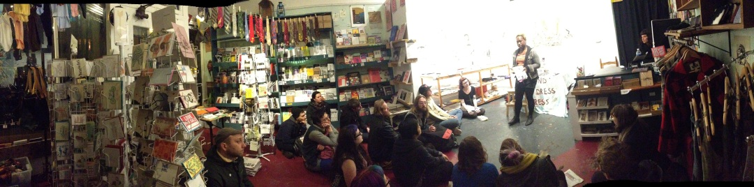 Osa reads from Shotgun Seamstress at Needle & Pens